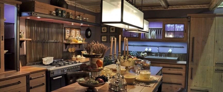 industrijska masivna kuhinja bespoke industrial style kitchen