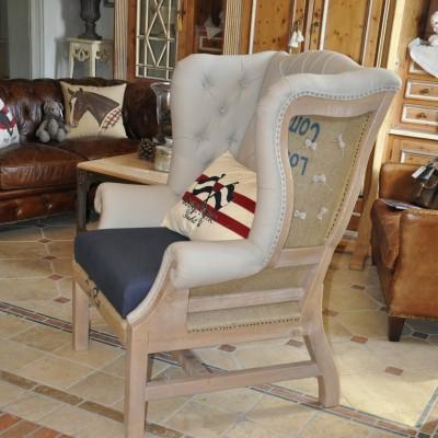 vintage - deconstructed fotelj